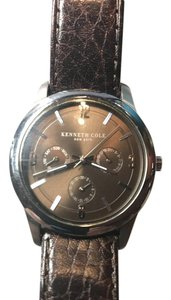 Kenneth Cole Kenneth Cole Watch with a dark brown leather band.