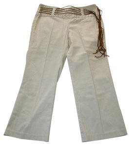 Tracy Evans Ltd. Pants Leather Belt Capris Beige