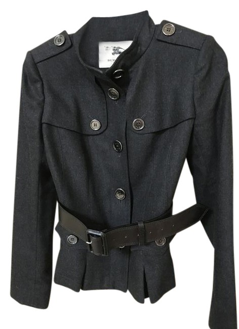 Preload https://img-static.tradesy.com/item/21092133/burberry-dark-grey-woman-military-wool-jacket-with-belt-pant-suit-size-6-s-0-1-650-650.jpg