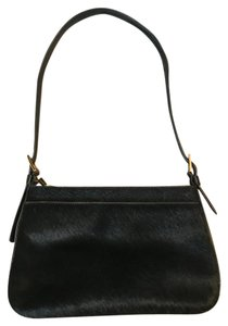 Enzo Angiolini Patent Leather Gold Hardware Cow Hair Shoulder Bag