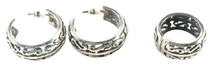 Tiffany Toltec Tiffany Toltec Sterling Silver Earrings and Ring COA