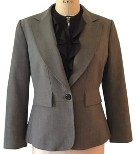 Tahari Tahari Brown Classic Fitted Two Piece Suit