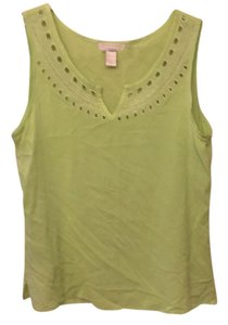 Ann Taylor LOFT Top lime