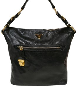 Prada Leather Vitello Hobo Bag
