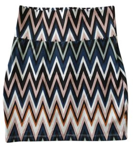 Charlotte Russe Bodycon Fitted Mini Stretchy Mini Skirt multi