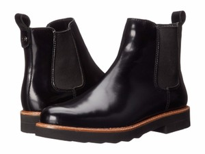 Coach Chelsea Leather Black Boots