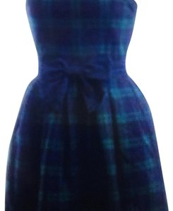 Abercrombie & Fitch short dress Green and Navy Blue Plaid on Tradesy