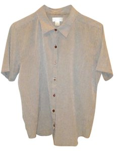 Christopher & Banks Casual Machine Washable Breathable Button Down Shirt Brown