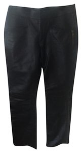 Gucci Leather Straight Pants black