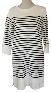 Allihop short dress Cream and Black Stripe on Tradesy