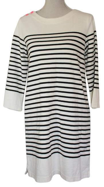 Item - Cream and Black Stripe Anthropologie Short Casual Dress Size 6 (S)