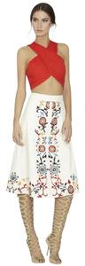 Alice + Olivia Tibi Lela Rose Zimmermann Tory Burch Dvf Skirt Ivory