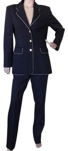 Escada Blue Striped Pant Suit Size 40 (USA 10/12)