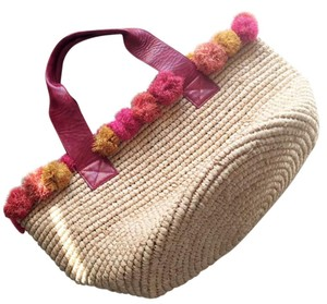 florabella Beach Knit Floral Tote