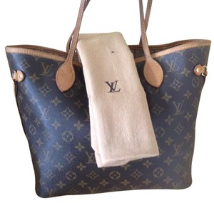 Louis Vuitton Neverfull Monogram Damier Azur Ebene Tote in Brown