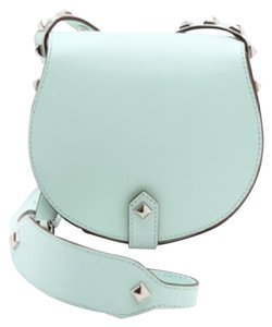 Rebecca Minkoff Cowhide Leather Studded Cross Body Bag