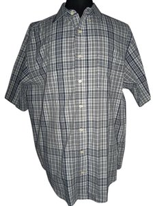 Faded Glory Men 2xl Black/white Classic Look Button Up Button Down Shirt multi-color