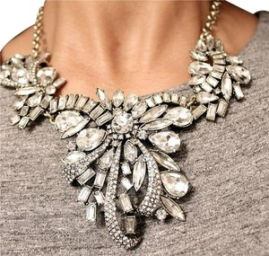 Other Large Waterfall Crystal Necklace