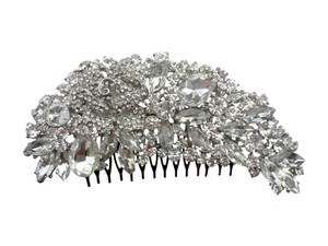 Unik Occasions Wide Rhinestone Crystal Rose Flower Hair Comb