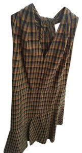 Derek Lam short dress Yellow Green Black Red Plaid on Tradesy