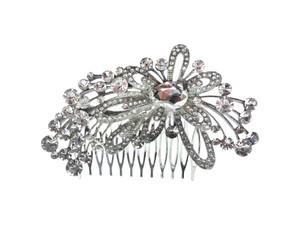 Unik Occasions Abstract Floral Rhinestone Bridal Comb