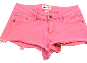Roxy Cut Off Shorts Pink