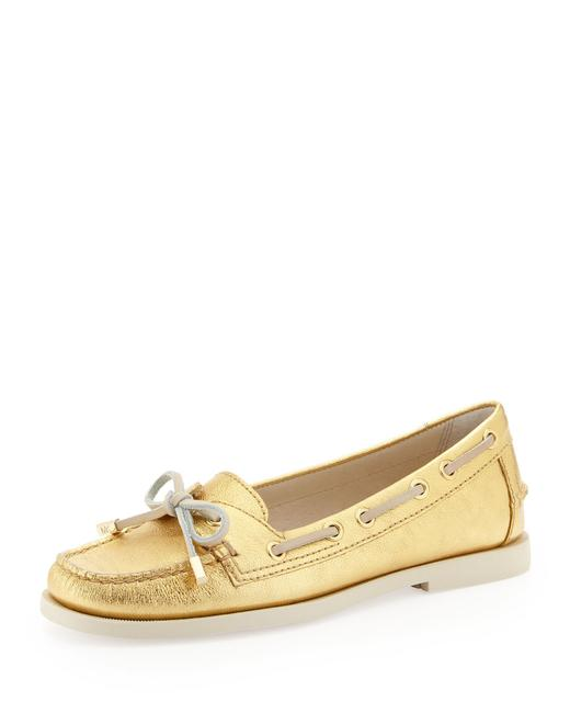Item - Gold Boat Driving Loafers Flats Size US 8 Regular (M, B)