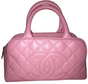 Chanel Quilted Leather Tote in Pink