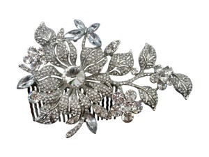 Unik Occasions Broad Rhinestone Flower Orchid Butterfly Hair Com