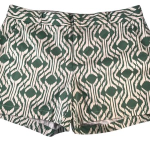 Banana Republic Dress Shorts Green White