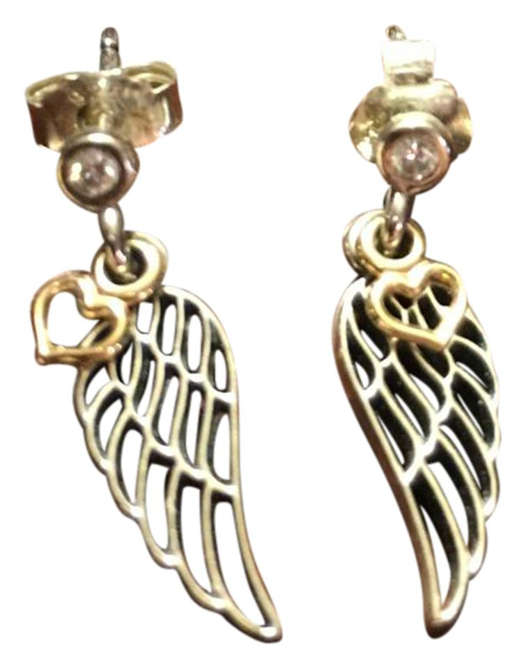 Pandora Love And Guidance Angel Wing Earrings Item 290583cz