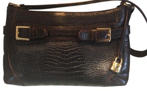 Etienne Aigner Croc Shoulder Bag