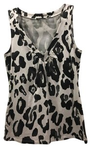 Express Animal Print Stretchy Comfortable Top Black, White, Silver