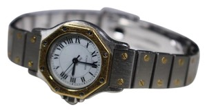 Cartier Cartier Santos Octagon Ladies 18K 750 Gold and Stainless Steel Watch