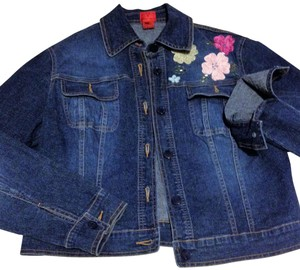 Vera Wang Trucker Jean Denim Womens Jean Jacket