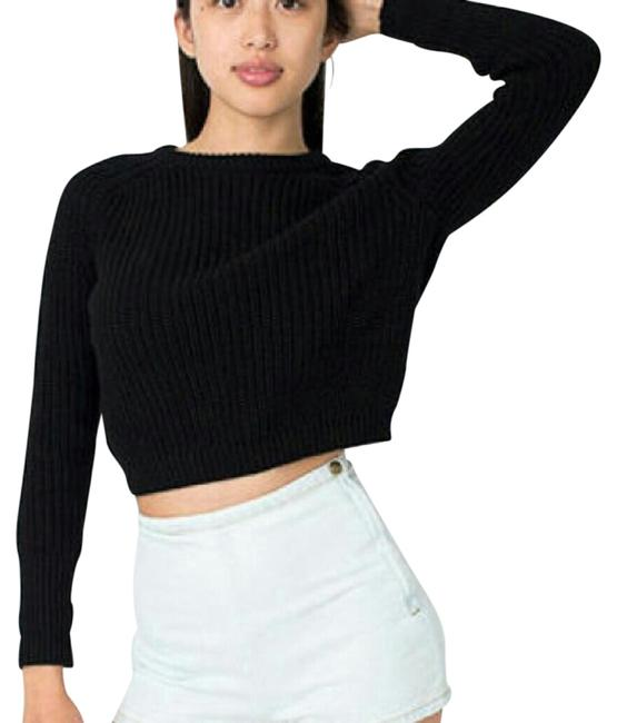 American Apparel Fisherman Knit Cropped Sweater