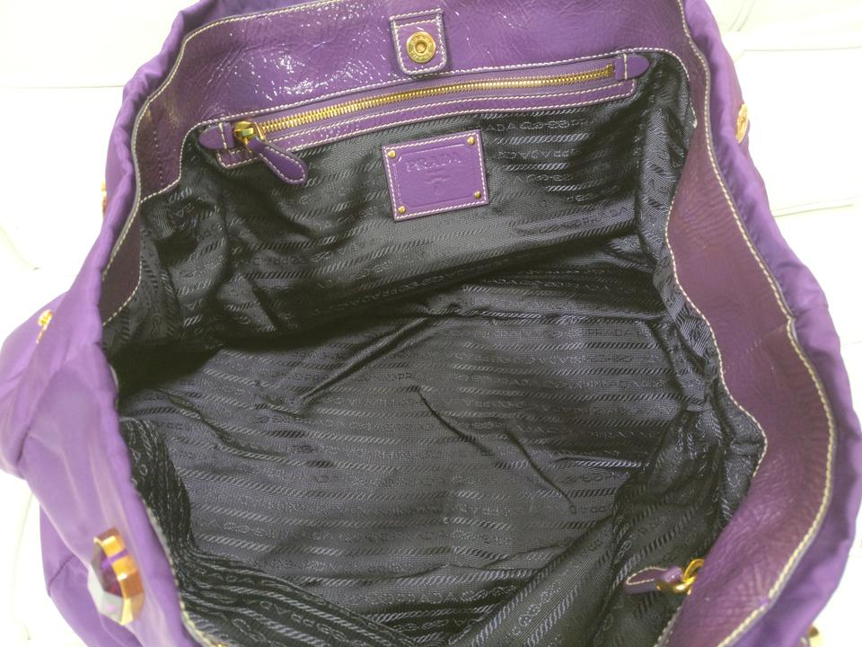 3644e7cbaff2d9 Prada Nylon Tessuto New Satchel in Purple Image 11. 123456789101112