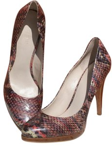 Nine West Classic Faux Leather Comfortable Signature Platform Multi-Colored Pumps
