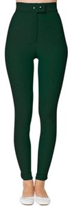 American Apparel Riding High-waist Form-fitting Maroon Port Skinny Pants Village Green