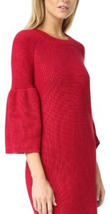 MINKPINK short dress red Rib Knit Chunky Sweater Sweater Bell Sleeve Chunky Knit on Tradesy