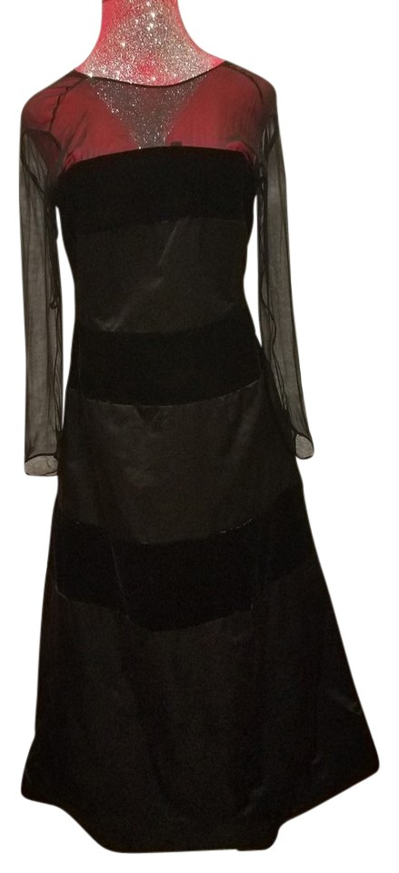 Rose Taft Black Gown Long Formal Dress Size 14 (L) - Tradesy