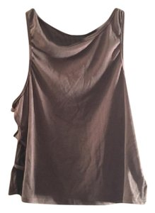 Charlotte Russe Date Party Festival Tie-up Top Brown