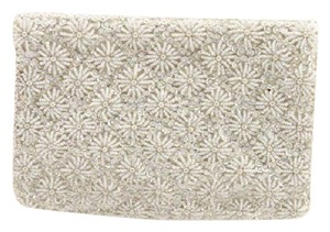 Other Evening Flower Beaded Vintage cream / pearl Clutch