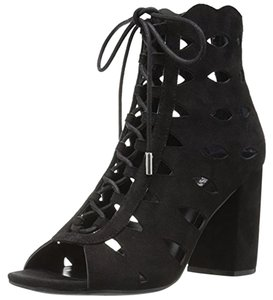 Guess Owina Suede Chunky Heels Black Sandals