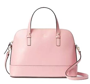 Kate Spade Rachelle Leather Satchel in Rose Jade