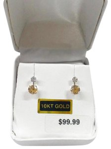 Other Sale! New Solid 10K White Gold Simulated Diamond CZ 10KT Gold Earrings