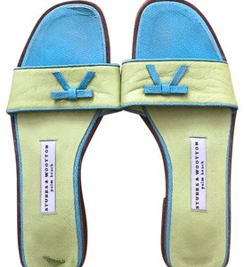 Stubbs & Wootton turquoise and green Sandals