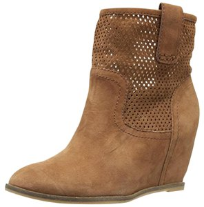 Lucky Brand Brown Suede Wedges Suede Toffee Tan Boots