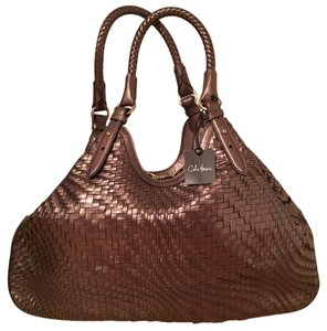 Cole Haan Leather Metallic Woven Limited Edition Tote in Brown