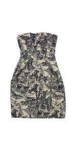 Hoss intropia short dress Multi Printed Strapless Lace Up Back on Tradesy